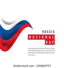Russia National Day Vector Template Design Illustration