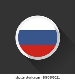 Russia national flag on dark background. Vector illustration.