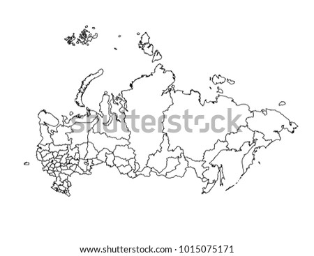Russia Outline Map Detailed Isolated Vector Stock Vector Royalty
