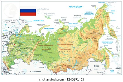 Russia Map Vector Cities Images, Stock Photos & Vectors ...
