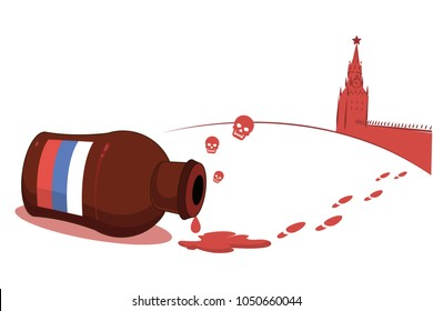 russia, poisoning,United Kingdom conflict. silm poison, gas, toxic.news.level of murder.vector