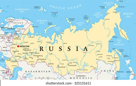 Russia Map Images, Stock Photos & Vectors | Shutterstock