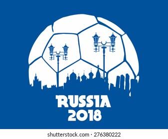 russia soccer ball vector art