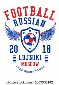 Russia soccer graphic design vector art
