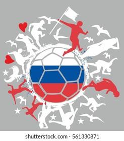 Russia Soccer player graphic design vector art