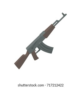 Russian assault rifle cartoon vector Illustration