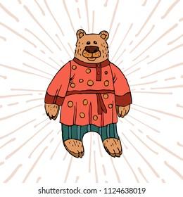 Running Bear para hombre Corbata