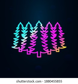 Russian, culture, forest, pine nolan icon. Simple thin line, outline vector of russia icons for ui and ux, website or mobile application