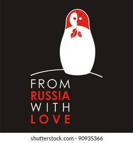 """Russian doll - matryoshka # 05. Drawing on the basis of the stylized image the nested dolls entering into a series """"From Russia with love""""."""