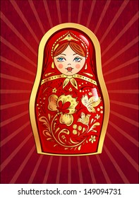 Russian doll, vector illustration, eps10