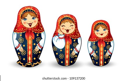 Russian Dolls Matrioshka Russian nested doll, Babushka doll, Russian Souvenir, present.
