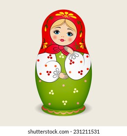 Russian dolls - matryoshka. Vector illustration