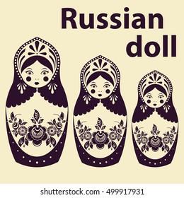 Russian Dolls  Russian nested doll, Babushka doll, Russian Souvenir, present.