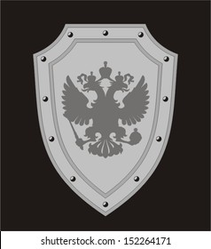 The Russian eagle on the shield