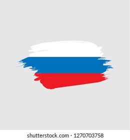 russian Flag  with brush effect, Russia