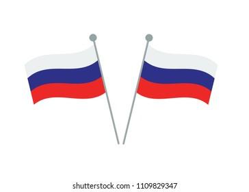Russian flag icon. Vector illustration.