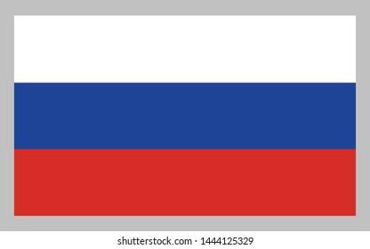 Russian flag illustration vector design