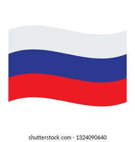 Russian  flag. Simple vector Russian  flag