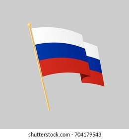 Russian flag. Vector illustration