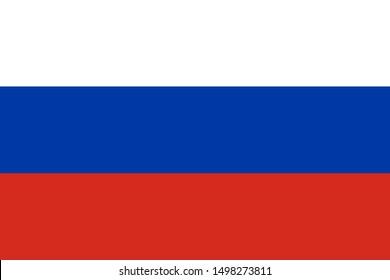 Russian flag. Vector illustration for banner or background.