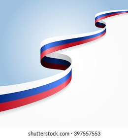 Russian flag wavy abstract background. Vector illustration.