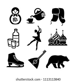 Russian icon set vector collection