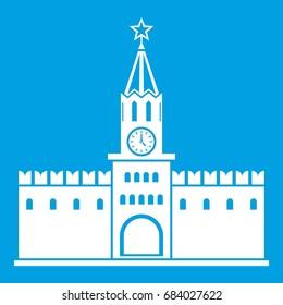 Russian kremlin icon white