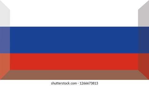 Russian language button, Russia flag, vector, eps 10