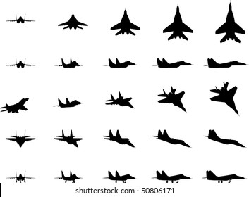 Russian military aircraft Mig-29, vector