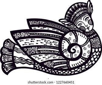 Russian mythology Bird