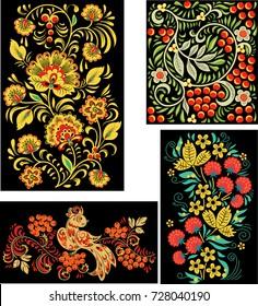 Russian ornament. a set of vectors