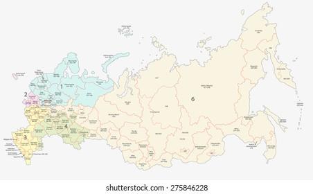 russian postcodes map