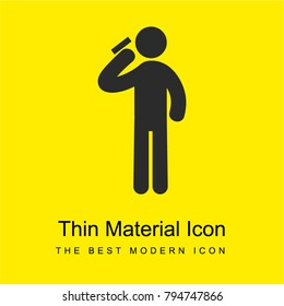 Russian Roulette bright yellow material minimal icon or logo design