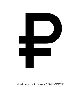 Russian ruble currency symbol icon. Vector