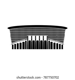 Russian Stadium sign icon. Yekaterinburg stadium vector illustration. Logo of round arena, Russia. Football stadium isolated. Design template for poster,banner,flayer, greeting, web. Championship 2018