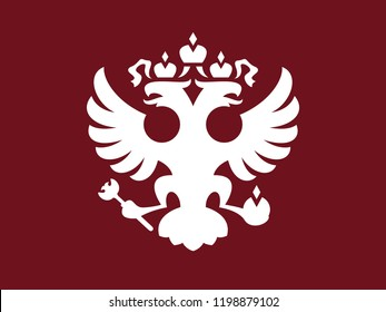 Russian stylized crest with two-headed eagle.