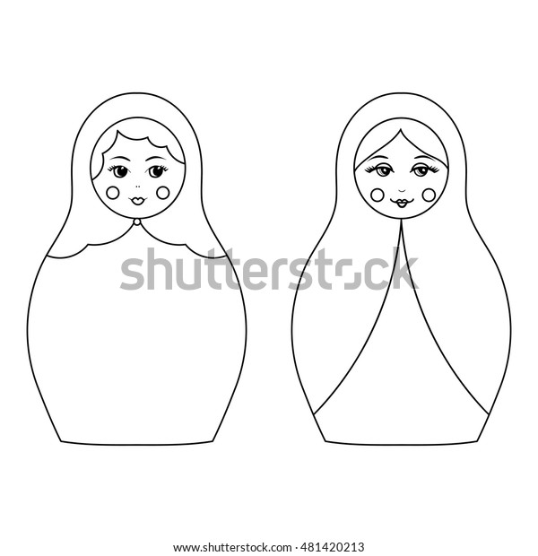 Russian dolls - Coloring Pages for Adults | 620x600
