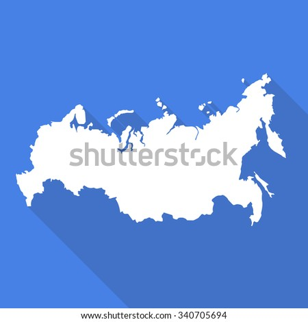 Russia Russian Federation White Mapborder Flat Simple Stock ... on flat united states map, flat eurasia map, flat great britain map, flat country map, flat europe map, flat us map, flat africa map, flat world maps,