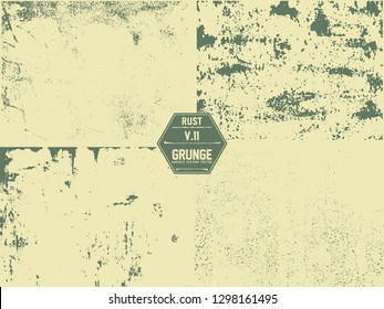 Rusted metal texture with dark stains and marks on a surface.