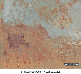 rusted metal texture - vector background