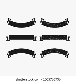 Rustic banner and ribbon vector collection