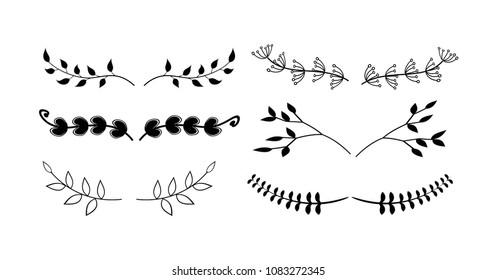 Rustic divider set vector illustration