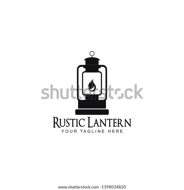 Rustic Lantern Logo Design Inspiration Stock Vector Royalty Free
