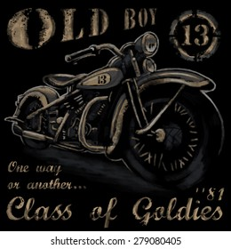 rustic old boy vintage tee shirt graphics