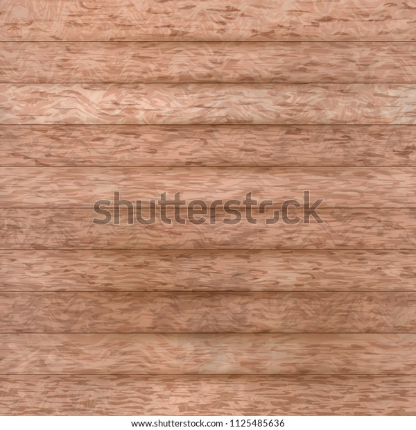 Rustic wood background. Light brown wooden backdrop. Flat lay layout.  Grunge retro texture of old floor vector illustration. Country concept. Easy to edit template for your design projects.