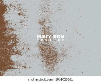 Rusty iron texture. Rust and dirt overlay black and white texture.
