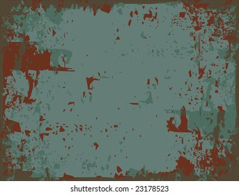 Rusty metal abstract vector background