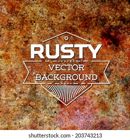 Rusty metal vector background with complex texture