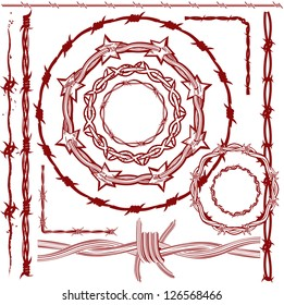 Rusty Red Barbed Wire