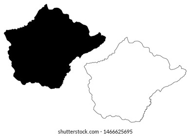 Ruyigi Province (Republic of Burundi, Provinces of Burundi, Eastern region) map vector illustration, scribble sketch Ruyigi map